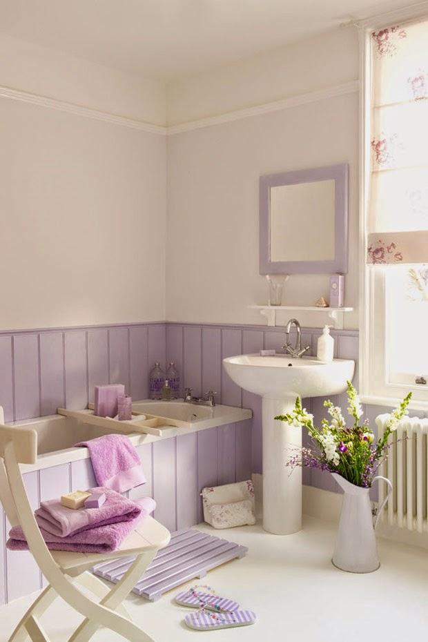 Imagenes Baños Femeninos:tonos pastel en la decoración de un baño crean un ambiente femenino