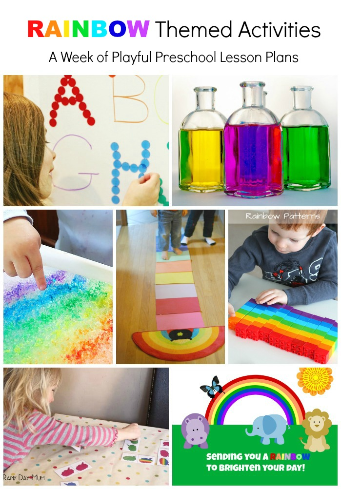 Rainbow Themed Activities for Preschoolers