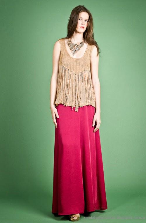 Moda Tejidos verano 2014. Agostina Bianchi primavera verano 2014 moda.