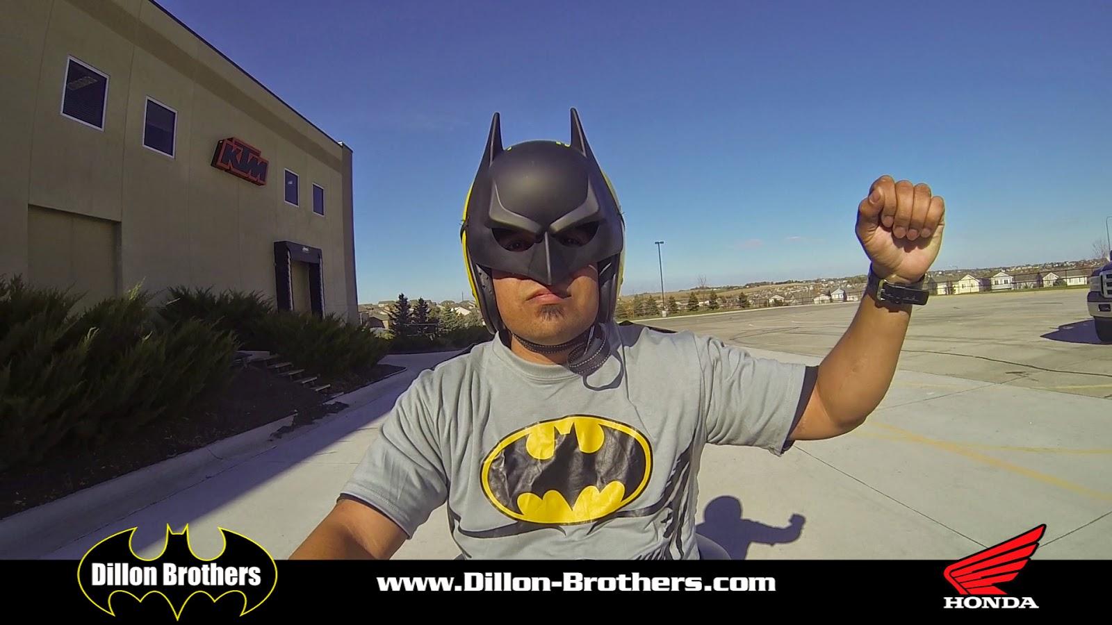 Batman on the new Bat Motorcycle