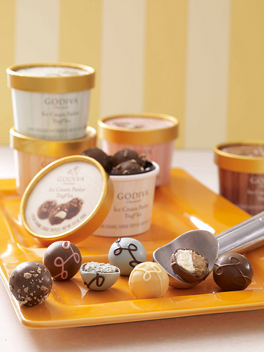 InsideOutElle: Godiva Ice Cream Parlor Truffles