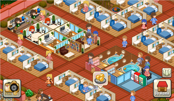 Design your dream resort to richness!『Hotel Story』is an epic