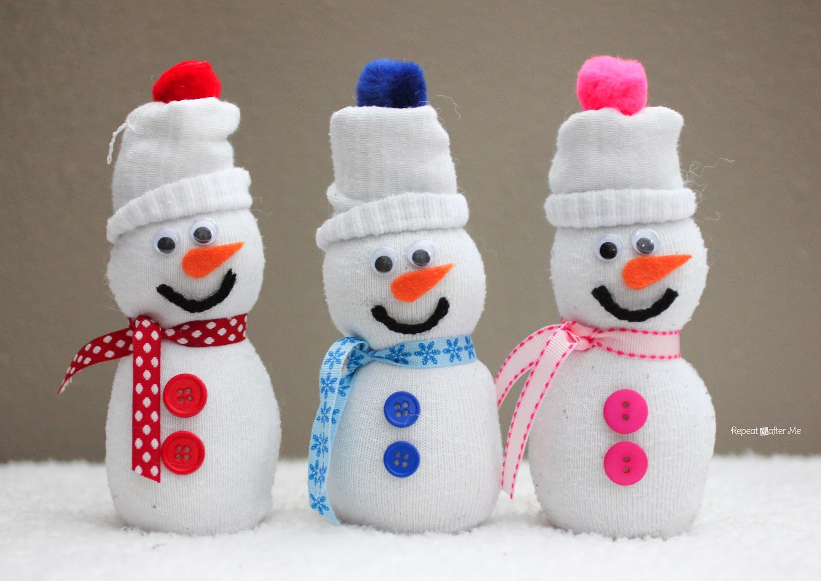 Repeat crafter me sock snowmen for How to create a snowman