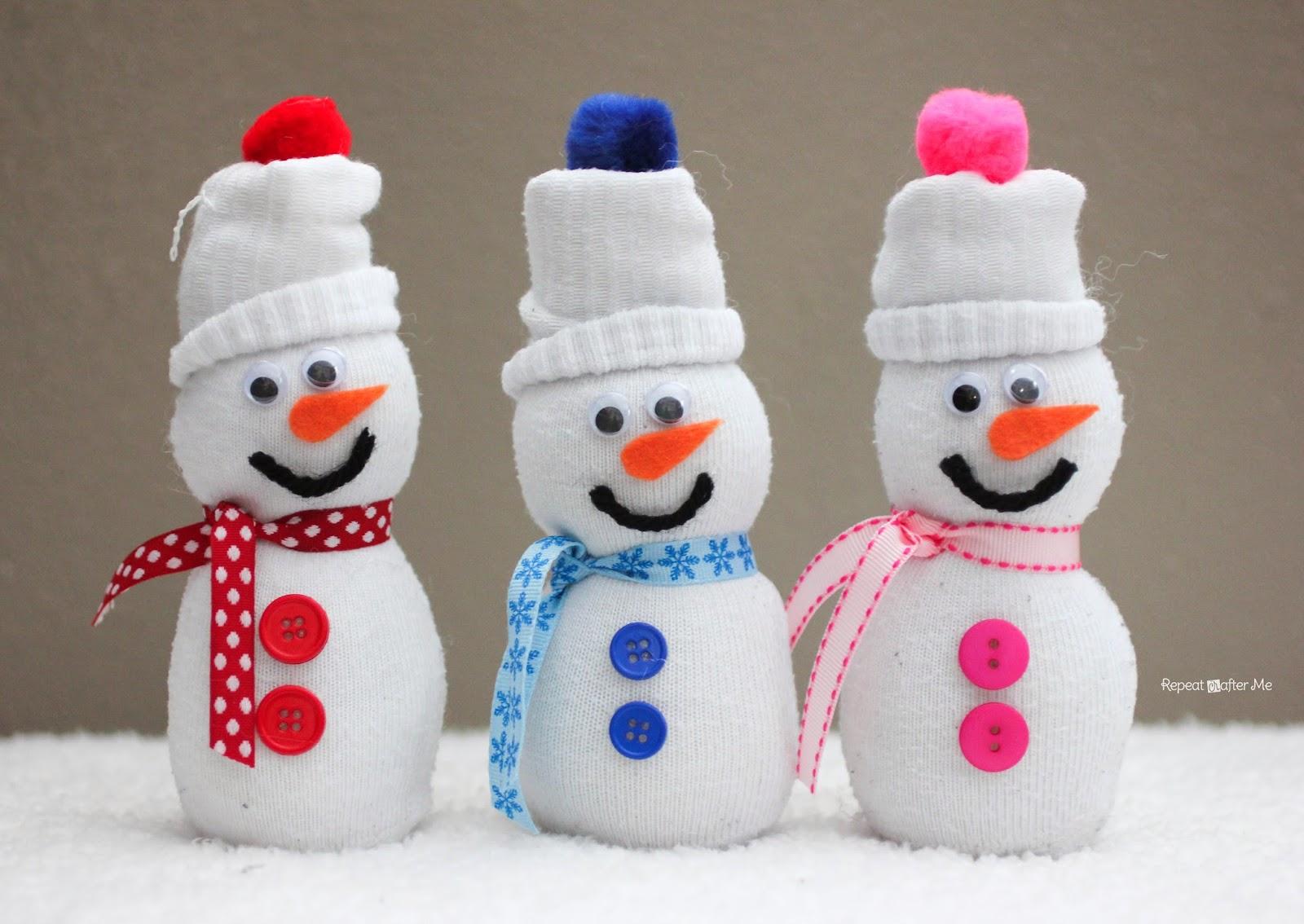 sock snowman repeat crafter me sock snowmen