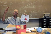 James Hansen in his office (Credit: csas.ei.columbia.edu) Click to Enlarge.