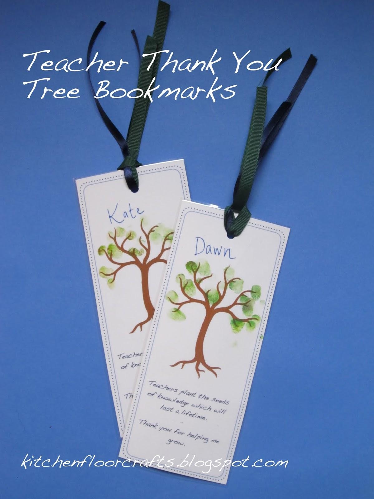 Kitchen Floor Crafts Teacher Thank You Tree Bookmarks Free Printable