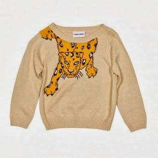 Child's Sweater Snow Leopard Beige Kidsen