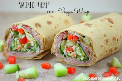 Smoked Turkey and Veggie Wraps