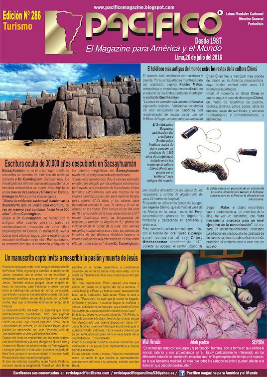 Revista Pacífico Nº 286 Turismo