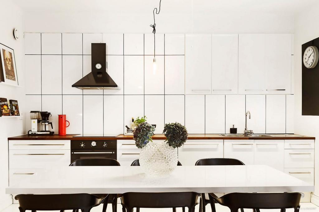 cozinha e copa integrado Apartamento pequeno decorado