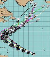 Pot. Tropischer Sturm OSCAR zieht voraussichtlich nicht in die Karibik, Oscar, Atlantische Hurrikansaison, Neufundland, US-Ostküste Eastcoast, Bermudas, aktuell, Vorhersage Forecast Prognose, Oktober, 2012, Hurrikansaison 2012,