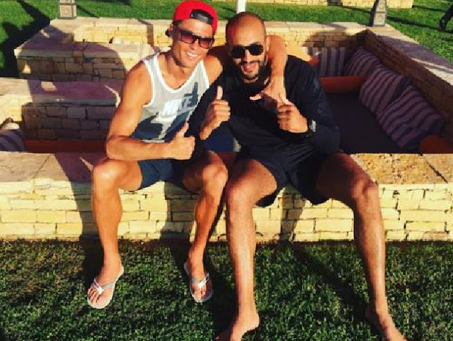 Mates or more? ... Cristiano Ronaldo and friend Badr Hari. Picture: InstagramSource:Supplied