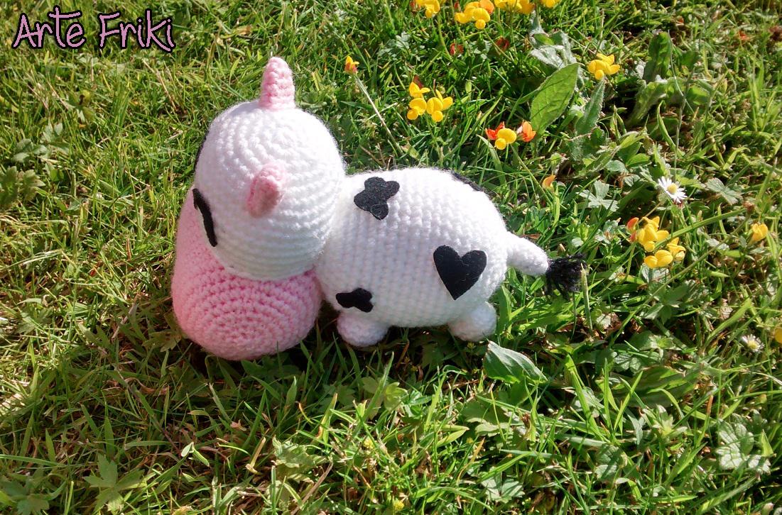 vaca amigurumi cow crochet ganchillo