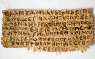 A tiny fragment of papyrus mentioning Jesus and his wife