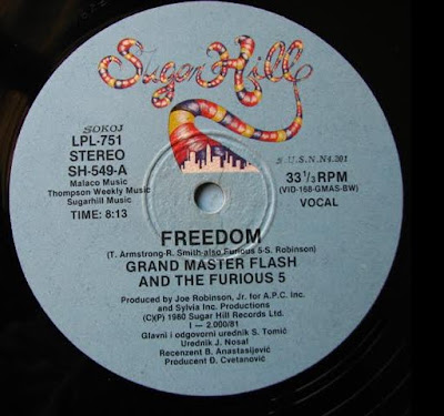 Grandmaster Flash & The Furious Five – Freedom (VLS) (1980) (320 kbps)
