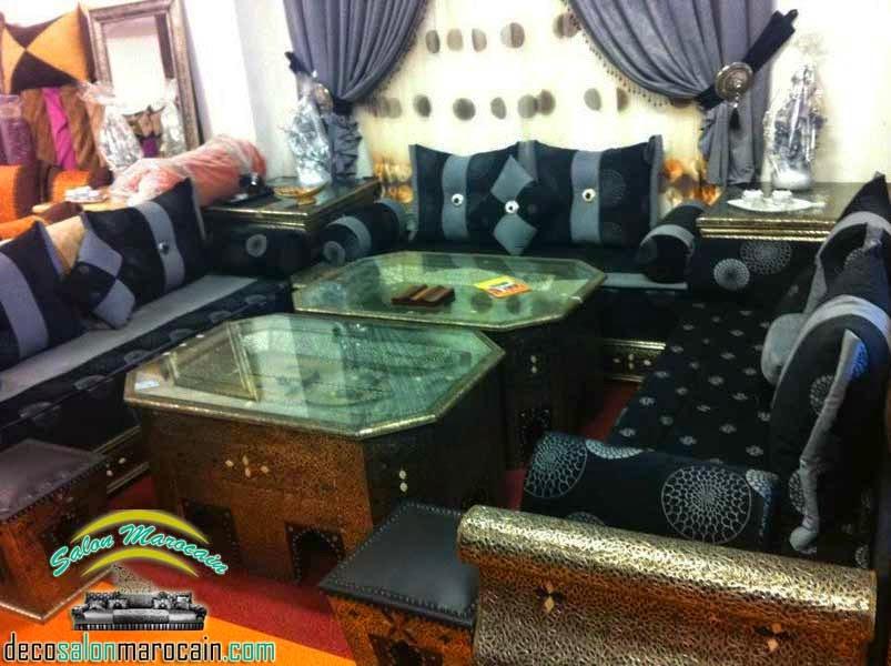 Salon marocain cuivrique éblouissante