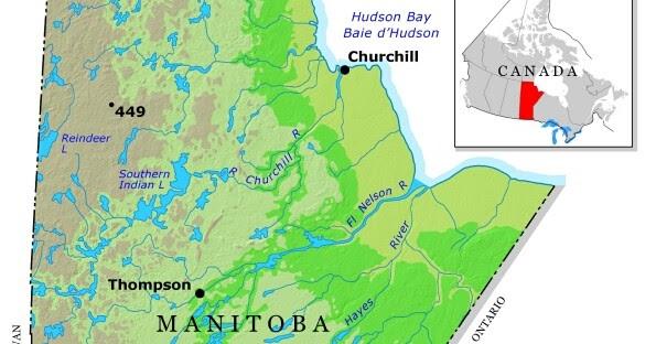 Map of Canada Regional City in the Wolrd Manitoba Map Regional