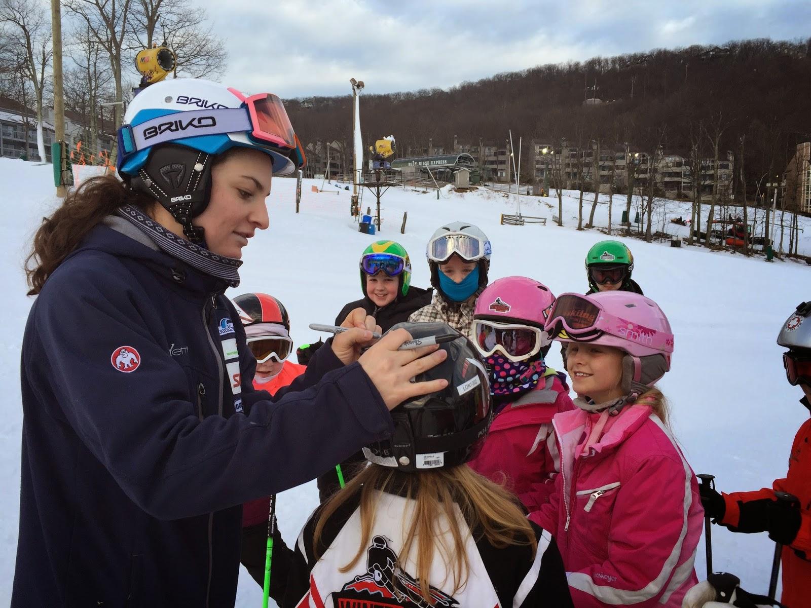 olympian, world cup skier, signature, helmets, Wintergreen Resort, McJames