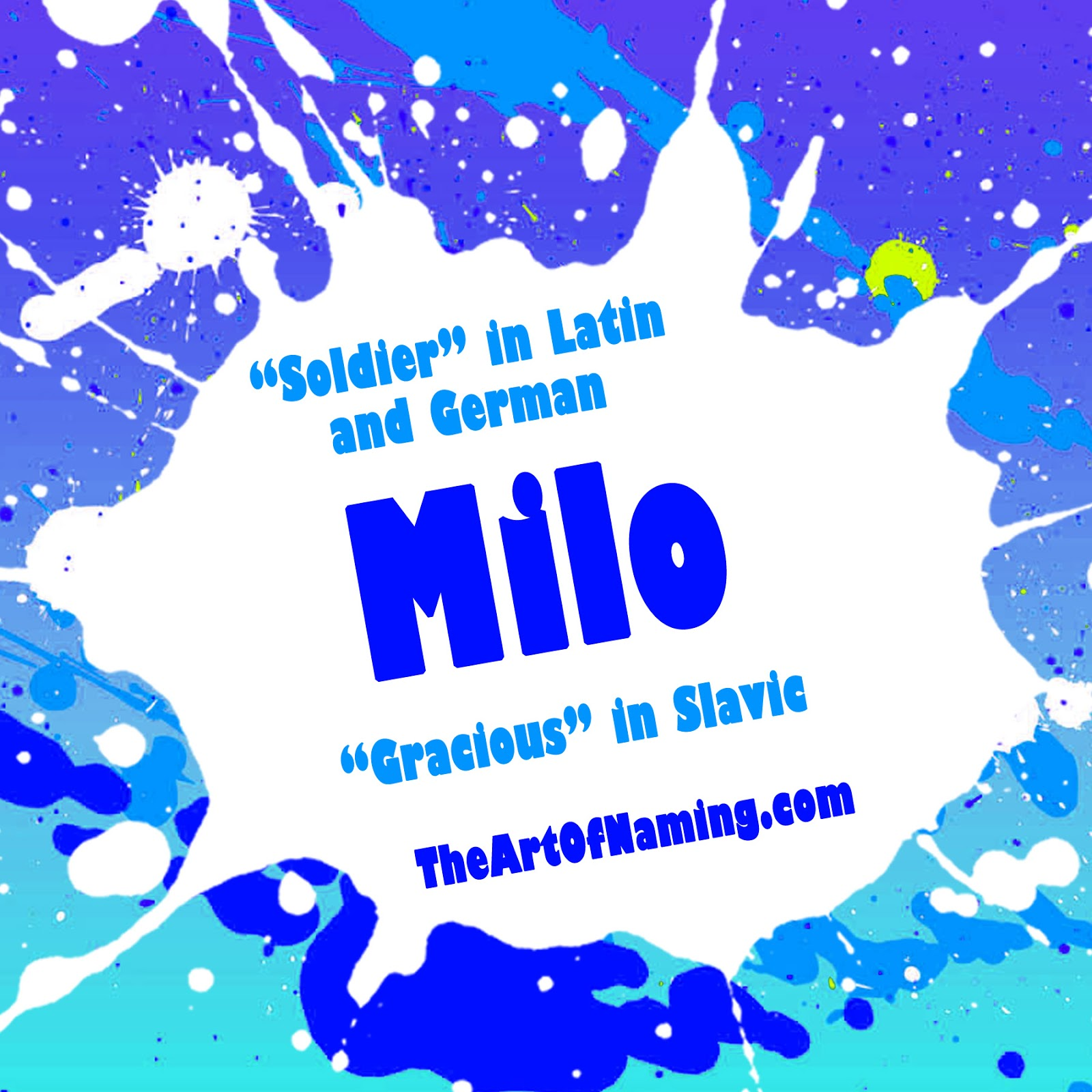 Our Featured Boy Name Is Milo It Comes To Us From Previous Article That The Very Best M Names For Boys And Girls