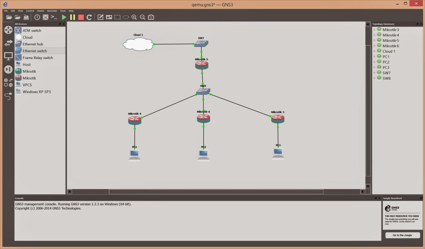 Belajar Mikrotik tanpa RouterBoard Menggunakan GNS3 Simulator – Pusat Pengetahuan