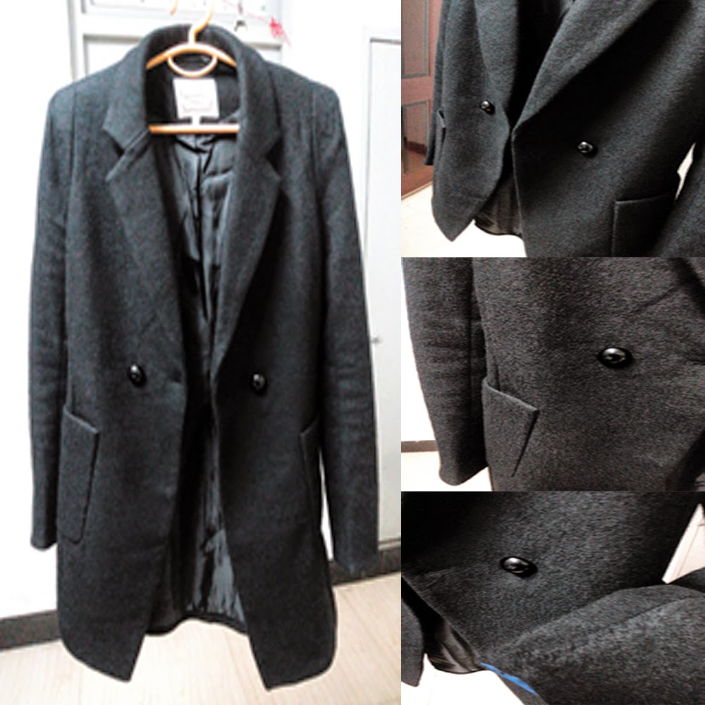 Long Black Blazer Coat 2