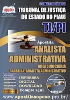 apostila TJ-PI analista Judiciário área administrativa