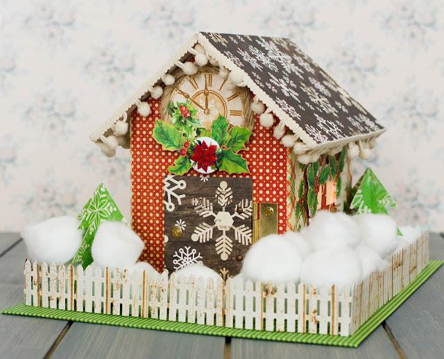 Christmas postbox by @pionizglini #graphic45 #santasmail