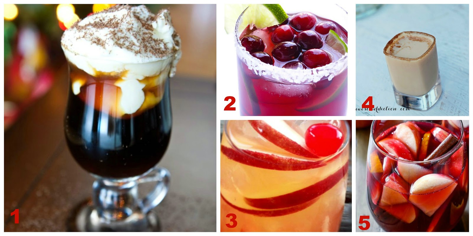 Thanksgiving and Christmas Holiday Drinks
