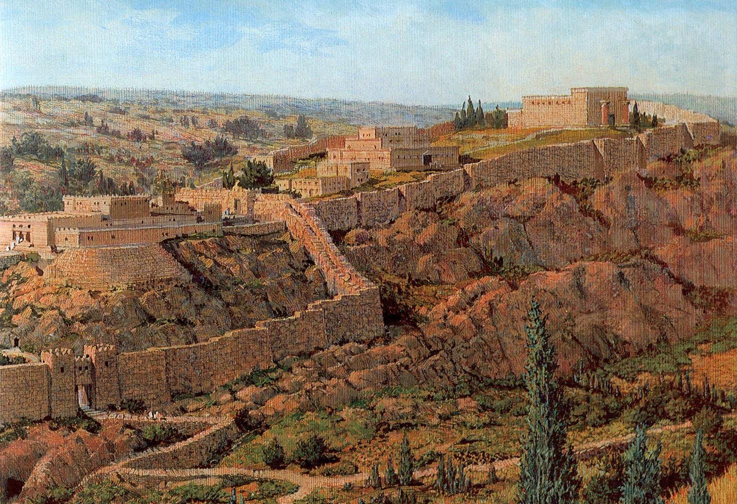Une histoire abrégée de l`Ancien Testament – (avec images et cartes géographiques) JERUSALEM+17