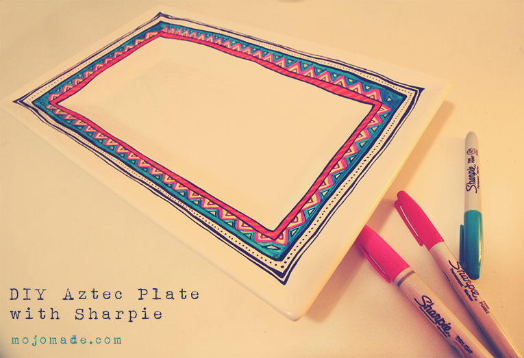 Diy Sharpie Aztec Plate I M Always Looking For Things To Draw