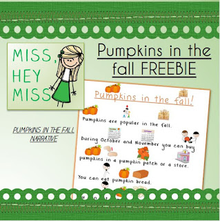 Miss, Hey Miss! Pumpkin Freebie!