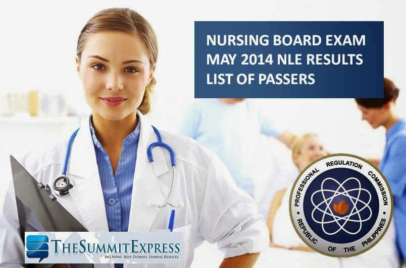 PRC says May 2014 Nursing board (NLE) results out after 24 working days