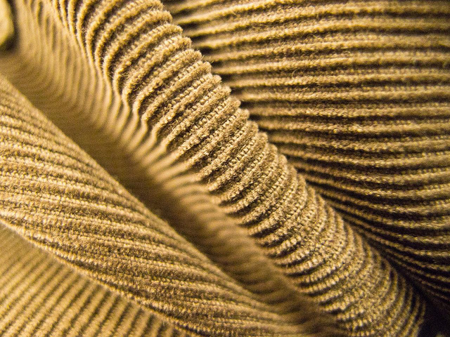 A close-up of corduroy