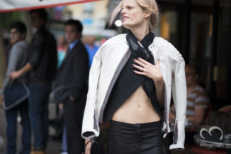 mitograph Hanne Gaby Odiele After Valentino Paris Haute Couture Fashion Week 2014 Street Style Shimpei Mito
