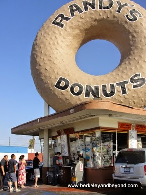 line at Randy's Donuts in Inglewood, California