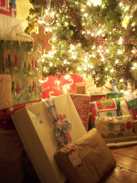 Re-used shopping bags and gift bags to make your Christmas more Eco-Friendly