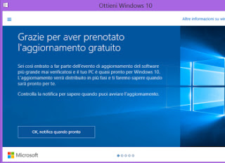 windows 10 aggiornamento in italiano