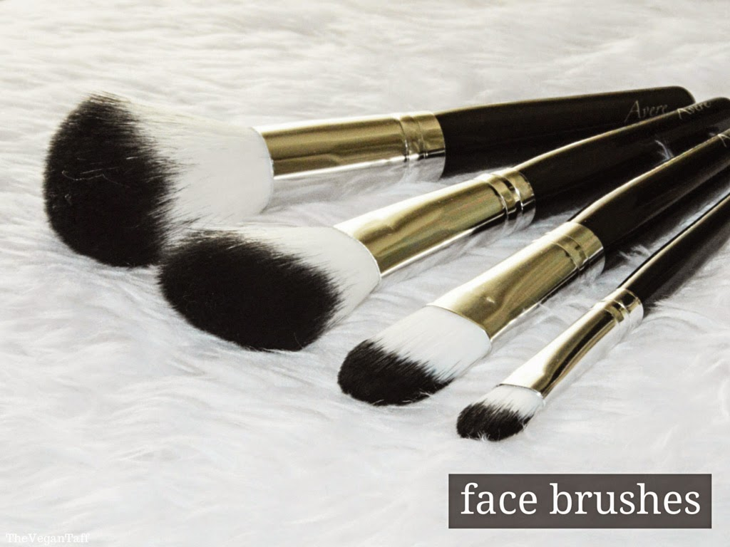 avere makeup brush set review