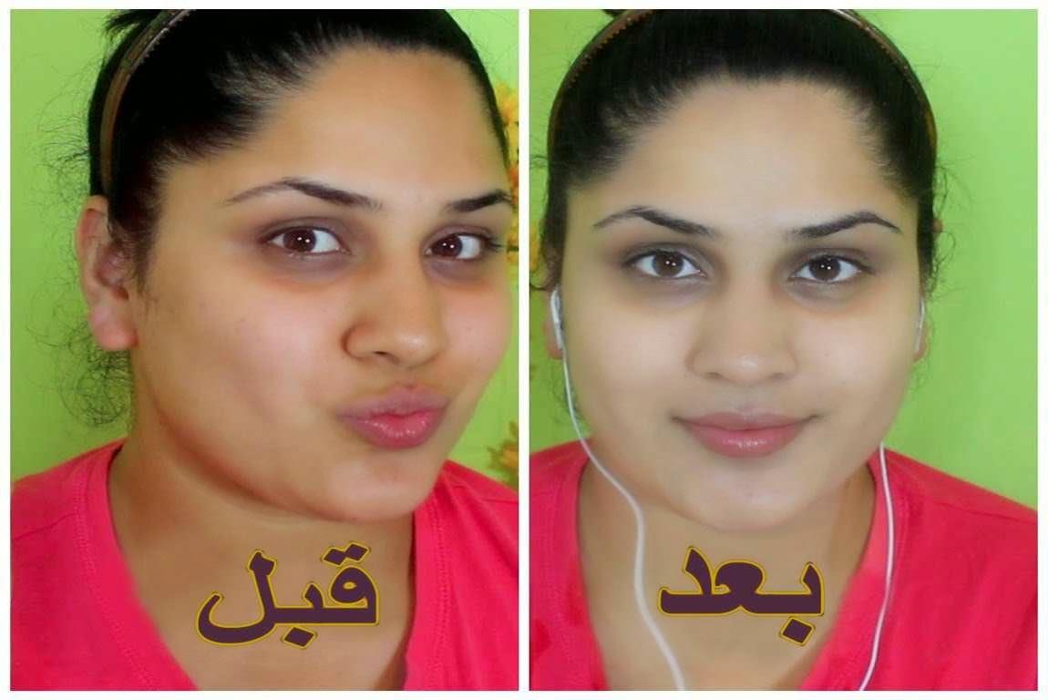 تبييض الوجه في مدة قصيرة