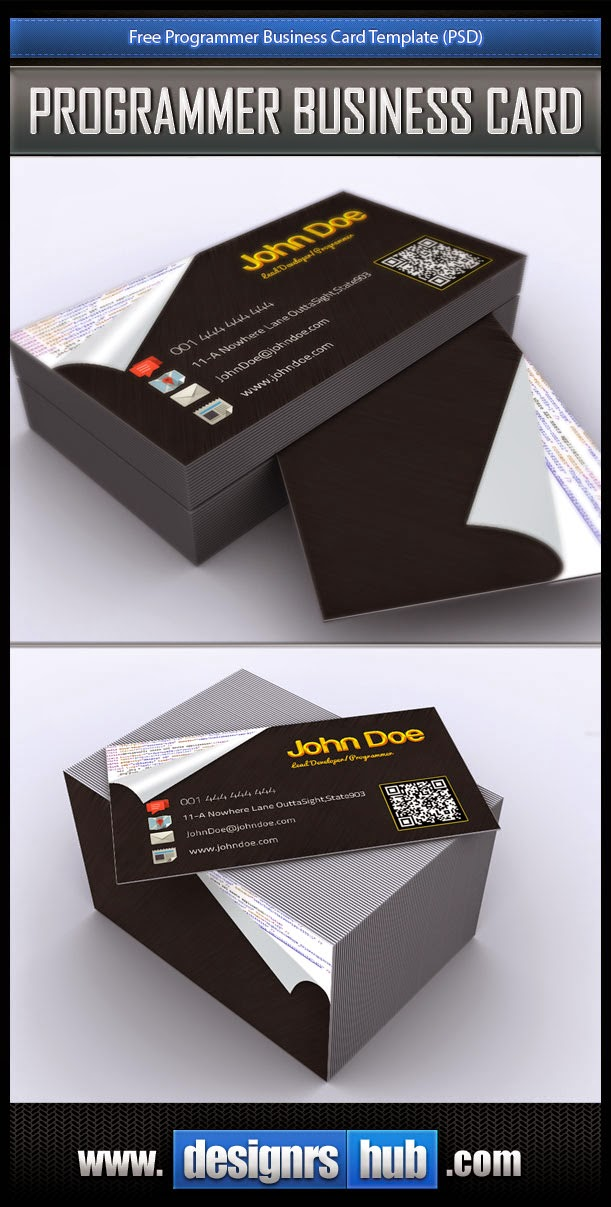 Free Programmer Business Card PSD Template
