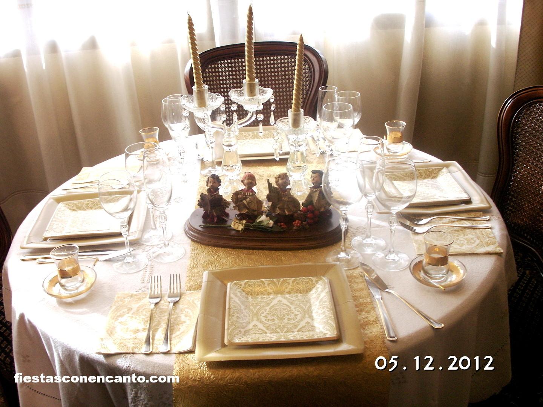 Fiestas con encanto decoraci n mesa de navidad elegance for Mesa de navidad elegante