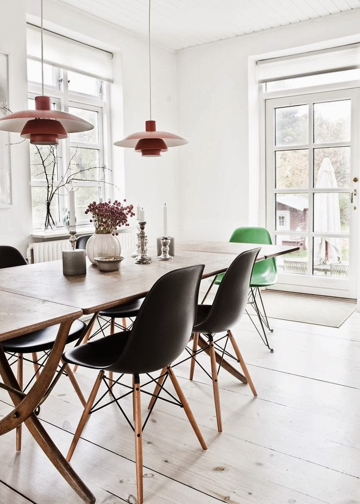 Pendant Lights Over The Dining Table Norse White Design Blog