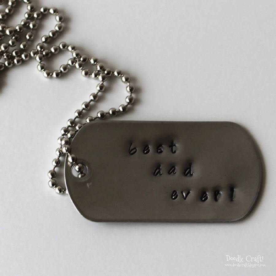 Daddy Dog Tags Metal Stamping