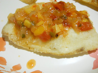 Crispy Tilapia with Red Pepper Mango Salsa