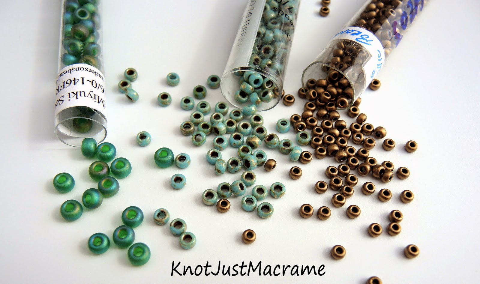 Seed bead size comparison, 6/0, 7/0, 8/0