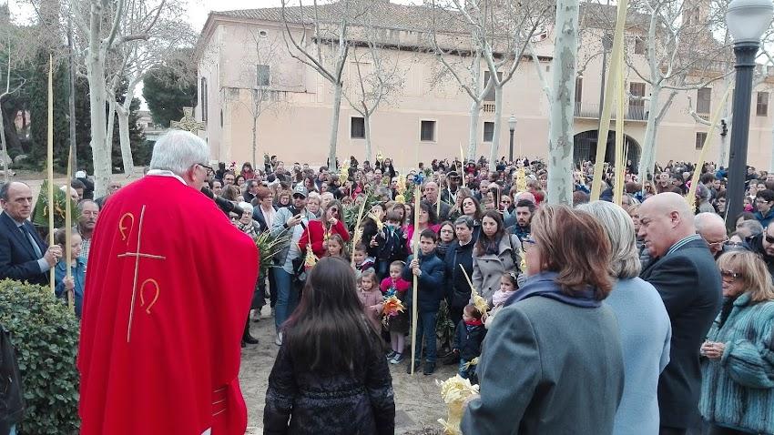 Benedicció de palmes i rams al Santuari