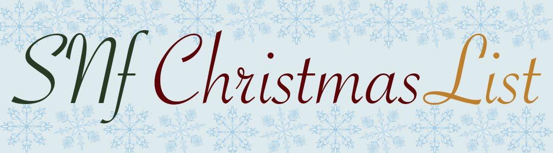 SNF Christmas List