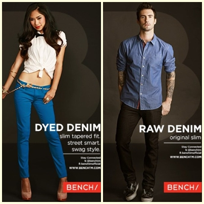 Jessica Sanchez and Adam Levine for Bench Back to School Denim Campaign 2013