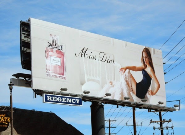 Natalie Portman Miss Dior Blooming Bouquet fragrance billboard