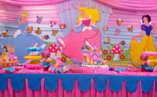 Fiestas Infantiles, Decoración Princesas